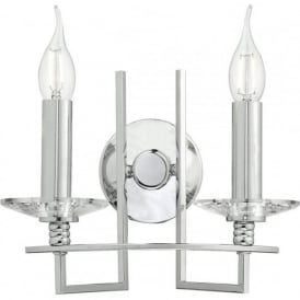 LU0950 Luzern 2 Light Switched Wall Light Polished Chrome
