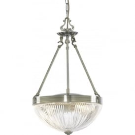 4772-2AB Windsor II 2 Light Ceiling Pendant Antique Brass