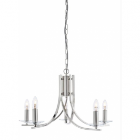 4165-5SS Ascona 5 Light Ceiling Light Satin Silver