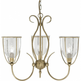 6353-3AB Silhouette 3 Light Ceiling Light Antique Brass