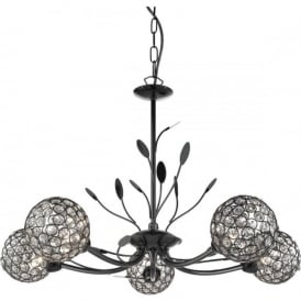 5575-5BC Bellis II 5 Light Ceiling Light Black Chrome