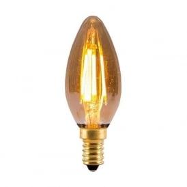 ES/E27 BC/B22 SES/E14 SBC/B15 LED 4 Watt Vintage Candle Amber Bulb