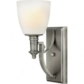 Hinkley HK/TRUMAN1 Truman 1 Light Wall Light Antique Nickel