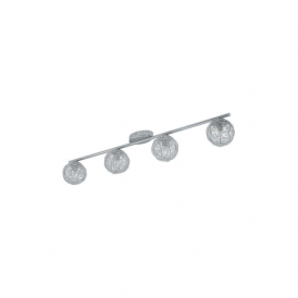 92654 Prodo 4 Light Semi Flushed Spot Ceiling Light Polished Chrome