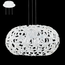 92887 Silvestro1 2 Light Ceiling Pendant White