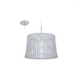 96185 Sendero 1 Light Ceiling Pendant White Wood