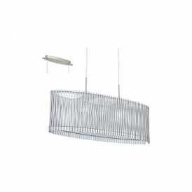 96187 Sendero 2 Light Ceiling Pendant White Wood