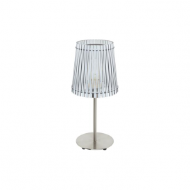 96189 Sendero 1 Light Table Lamp White Wood