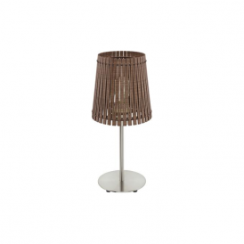 96203 Sendero 1 Light Table Lamp Dark Brown Wood