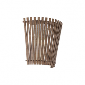 96202 Sendero 1 Light Wall Light Dark Brown Wood