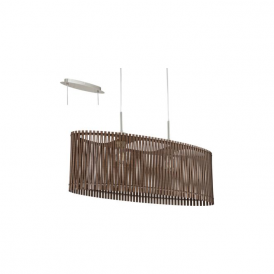 96201 Sendero 2 Light Ceiling Pendant Dar Brown Wood