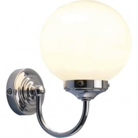 BAR0750 Barclay 1 Light Switched Bathroom Wall Light Polished Chrome IP44