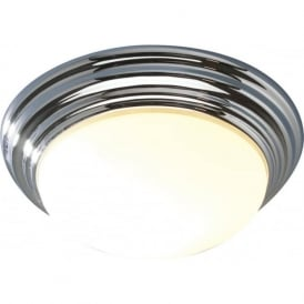 BAR5050 Barclay 1 light bathroom ceiling light flush polished chrome (large) IP44 rated