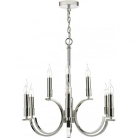 Dar ORF1338 Orford 9 Light Ceiling Light Polished Nickel
