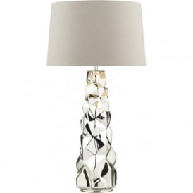 Dar GIU4232/X Giuseppe 1 Light Table Lamp Silver