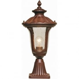 Elstead CC3/S Chicago 1 Light Outdoor Post Lamp Bronze IP44
