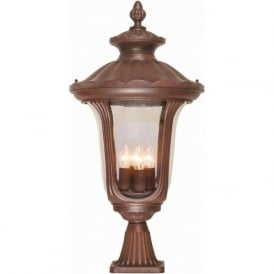Elstead CC3/L Chicago 4 Light Outdoor Post Lamp Bronze IP44