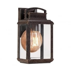 Elstead Quoizel QZ/BYRON/S Byron 1 Light Outdoor Wall Lantern Bronze IP44