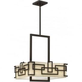 Elstead Hinkley HK/LANZA/P/L Lanza 3 Light Ceiling Pendant Bronze