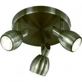 Franklite SPOT9013 Tivoli 3 Light Ceiling Light Bronze