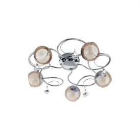 Eglo 95157 Ascolese 1 5 Light Flushed Ceiling Light Polished Chrome