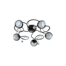 Eglo 95159 Ascolese 1 5 Light Flushed Ceiling Light Black Nickel