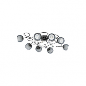 95161 Ascolese 1 8 Light Flushed Ceiling Light Black Nickel
