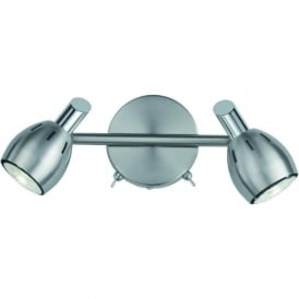 Franklite SPOT9002 Tivoli 2 Light Wall Light Satin Nickel