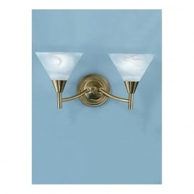 Franklite PE8012 Harmony 2 Light Wall Light Satin Brass