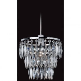 Firstlight 8111CH Easy-Fit Non-Electrical Pendant Polished Chrome