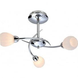 Firstlight 8234CH Rena 3 Light Flush Ceiling Light Polished Chrome