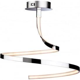 Firstlight 3451CH Wave LED Semi-Flush Ceiling Light Polished Chrome