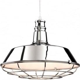 Firstlight 3444CH Manta 1 Light Ceiling Pendant Polished Chrome