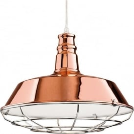 Firstlight 3444CP Manta 1 Light Ceiling Pendant Copper