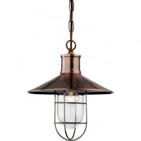 Firstlight 2306AC Crescent 1 Light Ceiling Pendant Antique Copper