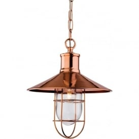 Firstlight 2306CP Crescent 1 Light Ceiling Pendant Copper