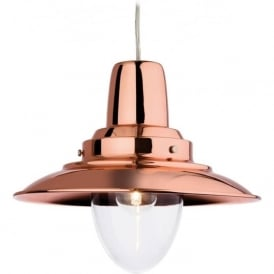 Firstlight 8645CP Fisherman 1 Light Ceiling Copper