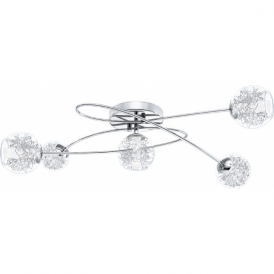 Eglo 30861 Altone 5 Light Ceiling Light Chrome
