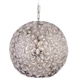 Firstlight 8647CH Goa 1 Light Pendant Polished Chrome