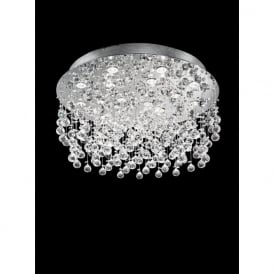 FL2019/18 Constellation 18 Light Crystal Ceiling Light Polished Chrome