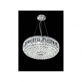 FL2020/9 Constellation 9 Light Crystal Chandelier Polished Chrome