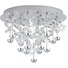 Eglo 39245 Pianopoli LED Semi Flush Ceiling Light Polished Chrome