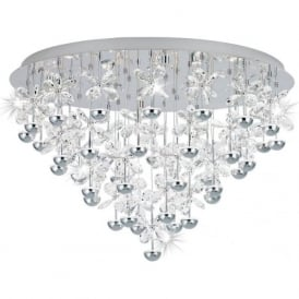 Eglo 39246 Pianopoli LED Semi Flush Ceiling Light Polished Chrome