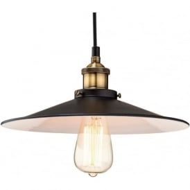 Firstlight 3471BK Empire 1 Light Pendant Black