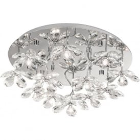 Eglo 93081 Pontedo 13 Light Semi Flush Ceiling Light Polished Chrome