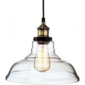 Firstlight 3472AB Empire 1 Light Pendant Antique Brass