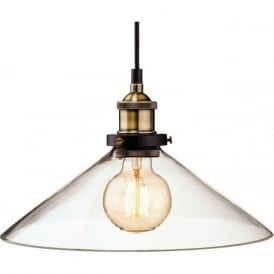 Firstlight 3473AB Empire 1 Light Pendant Antique Brass