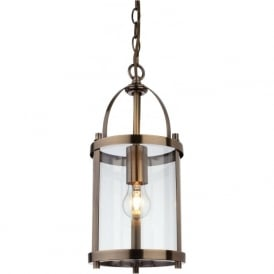 Firstlight 8300AB Imperial 1 Light Lantern Pendant Antique Brass