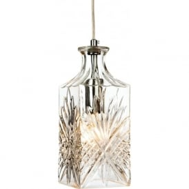 Firstlight 3447CH Decanter 1 Light Pendant Polished Chrome