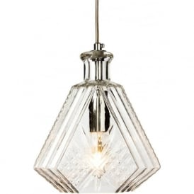 Firstlight 3448CH Decanter 1 Light Pendant Polished Chrome